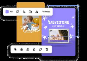 create babysitting flyers online