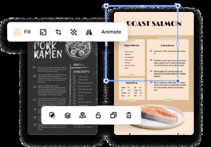 créer des fiches recettes en ligne