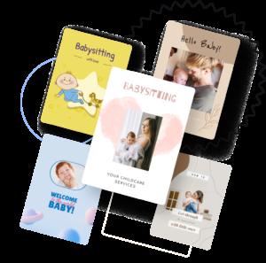 create babysitting flyers