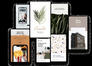 template mobile presentation