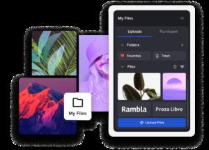upload mobile presentation design