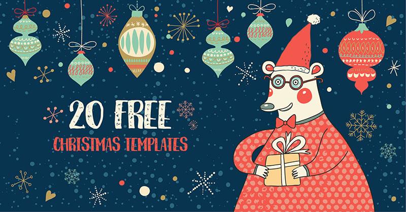 20 атмосферных шаблонов к Новому году и Рождеству