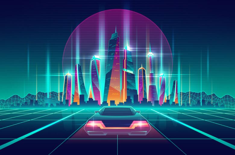 synthwave postmodern